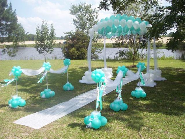 Ambientacion y decoracion de salones con globos para cumpleaños y