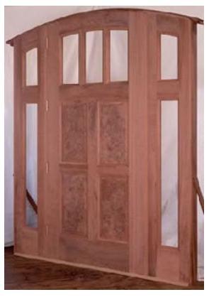 Puertas de madera puertas de algarrobo for Fabrica de puertas y ventanas de madera