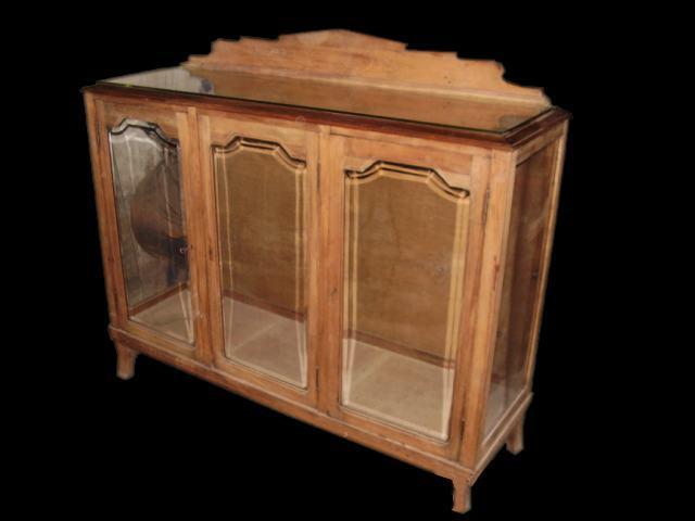 Venta antiguedades este caso mueble antiguo vitrina madera roble Tres